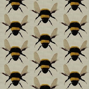 bees on linen