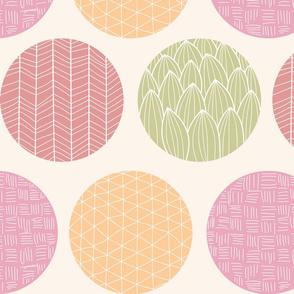 Circle ornamental colorful pattern