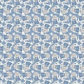 Angels Christmas Holiday Fabric 3
