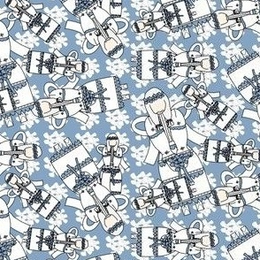 Angels Christmas Holiday Fabric 8