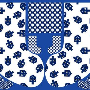 Kawaii Dreidels Cut and Sew Stocking