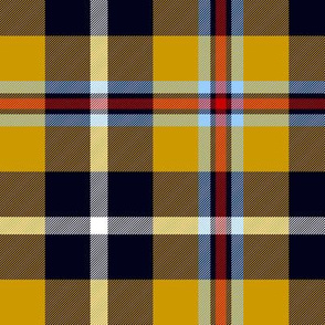 "Cornish national tartan, 6"" warmer yellow"