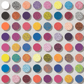 The point of Pointillism: a study in Spoonflower inks