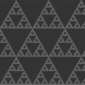 Sierpinski Triangle in dark neutral greys