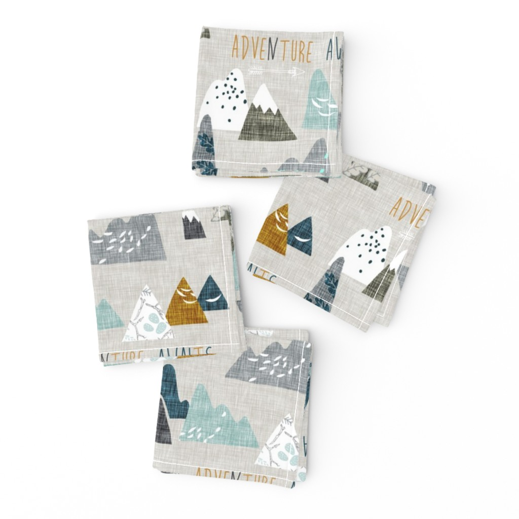Frizzle Cocktail Napkins featuring Adventure Awaits (earth) REGULAR by nouveau_bohemian