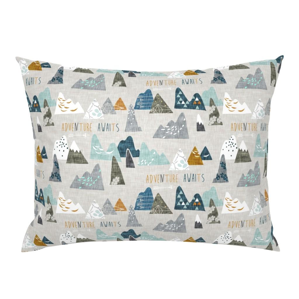 Campine Pillow Sham featuring Adventure Awaits (earth) REGULAR by nouveau_bohemian