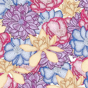 Pointillism Blooms