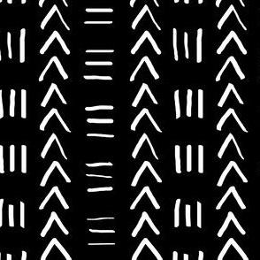 Mudcloth No.2 in Black + White