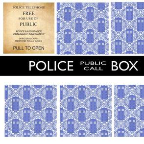Police Box Quilt Kit