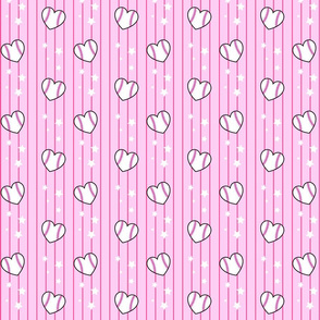 Heart Shaped Baseballs Pink