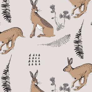 Running Hares Gray