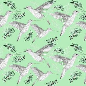 christmas hummingbirds