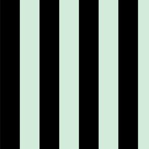 Vertical Black and Pastel Mint Stripes