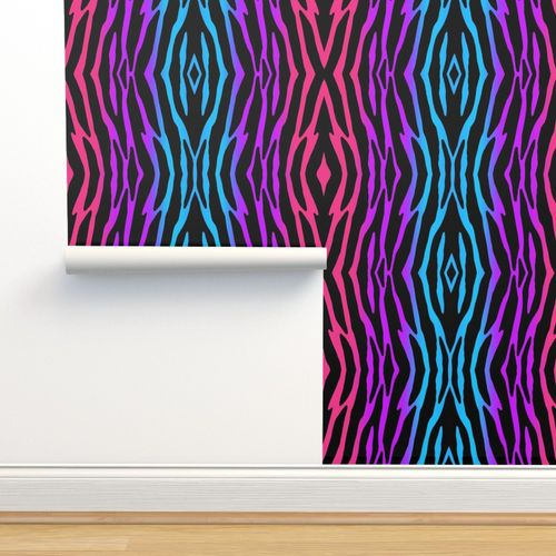 Wallpaper Rainbow Zebra Safari Animal Print Pattern