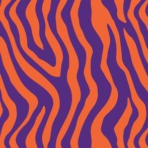 Tiger Stripes Orange and Puprle