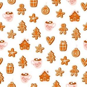 Gingerbread cookies cute cartoon pattern