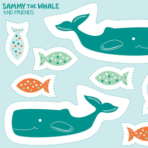 Cut and Sew:  Sammy the Whale (Seaside)