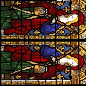 Saint Dorothy - 1500s stained glass window
