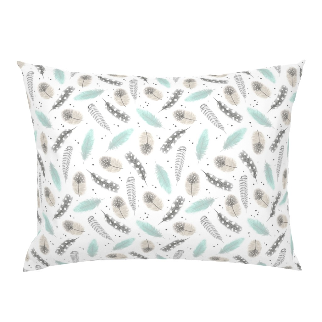 Campine Pillow Sham featuring Feathers by innamoreva
