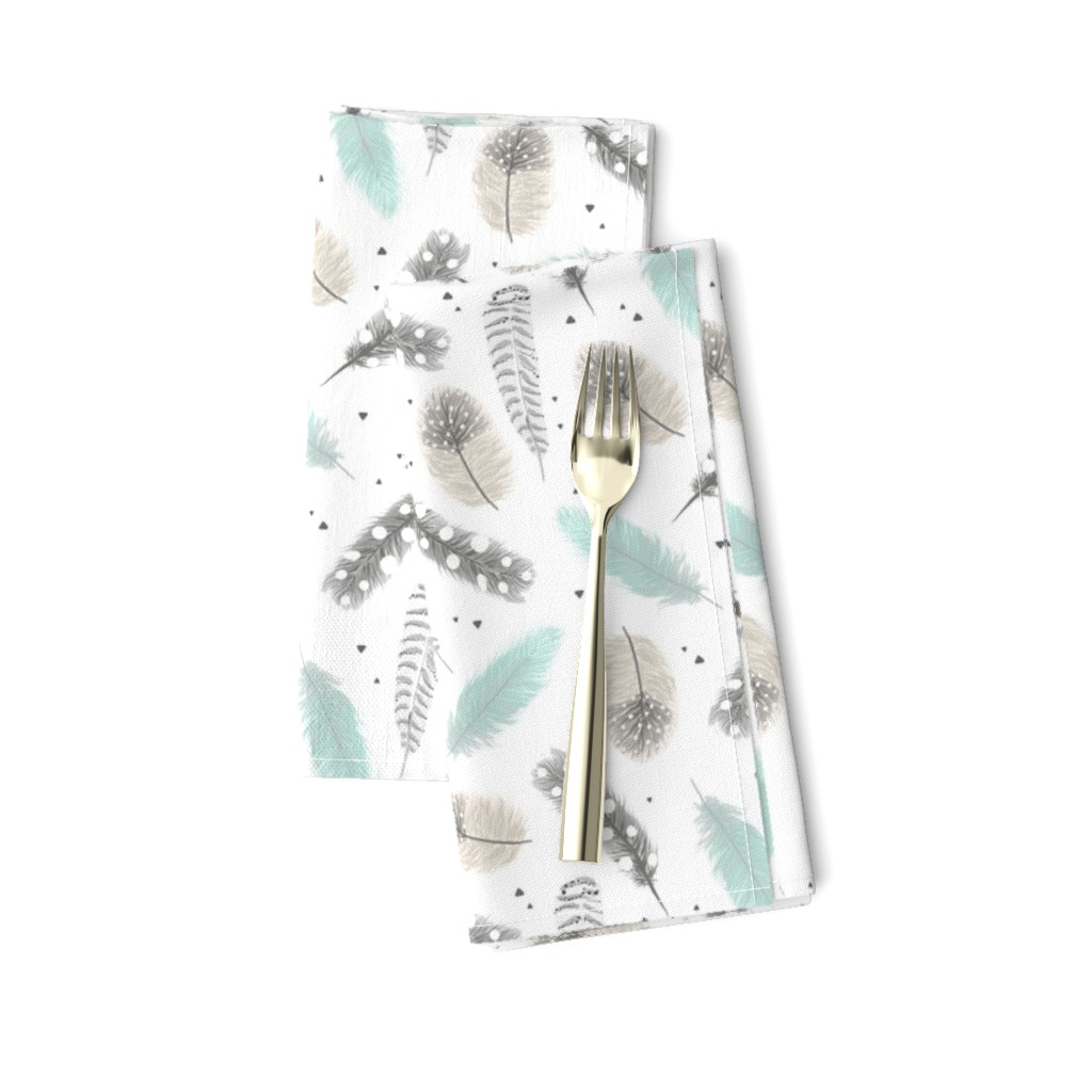 Amarela Dinner Napkins featuring Feathers by innamoreva