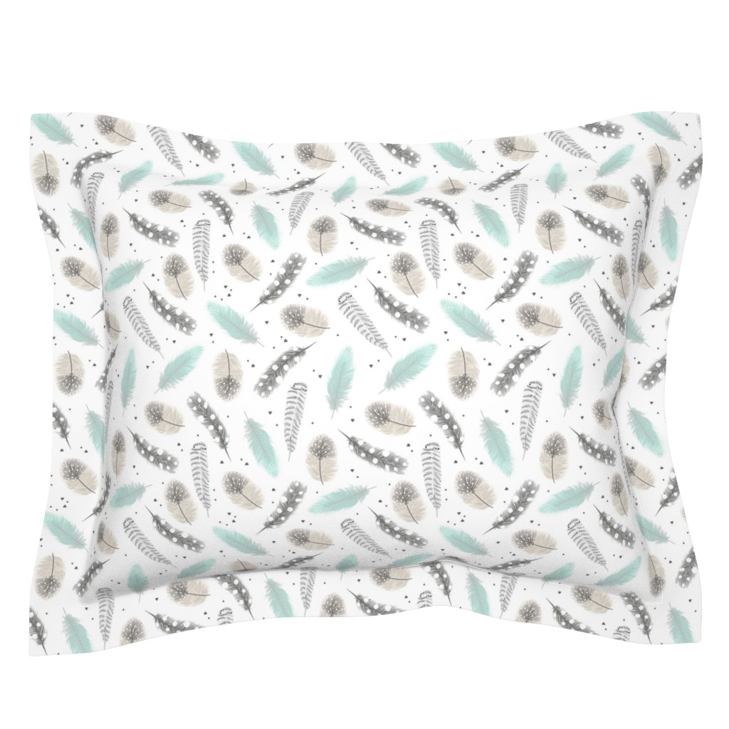 Sebright Pillow Sham featuring Feathers by innamoreva