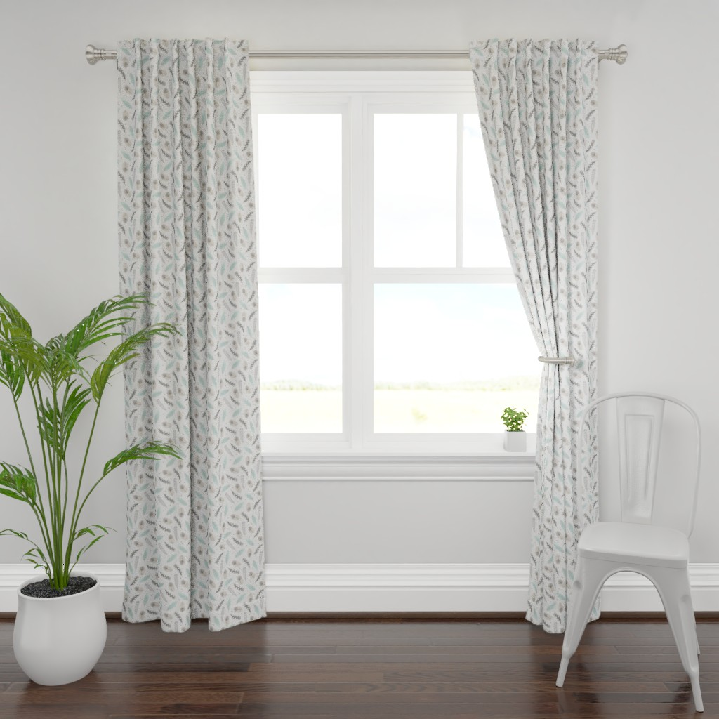 Plymouth Curtain Panel featuring Feathers by innamoreva