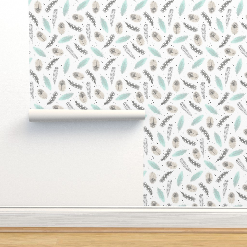 Isobar Durable Wallpaper featuring Feathers by innamoreva