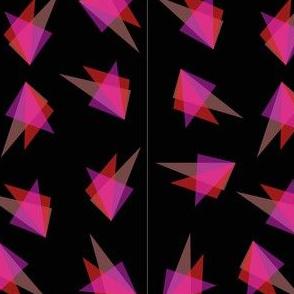 TrianglesRedtonesRepeatblackbkgd