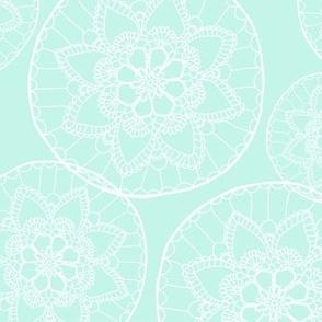 Mint doily