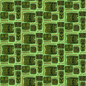 Tiki Family Tree Green