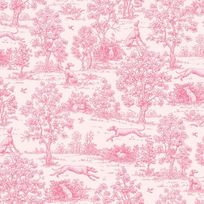 New Baby Pink Reverse Greyhound Toile  © 2010 by Jane Walker
