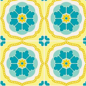Flowertile blue