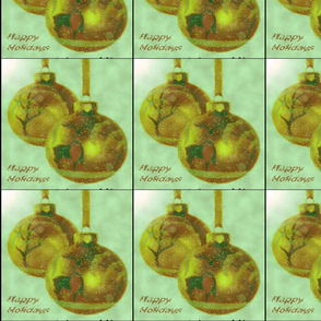 Holiday Golden Ornaments
