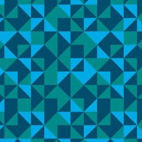 Geometric-Blue