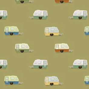 """HAPPY CAMPERS in """"OLIVE"""""""