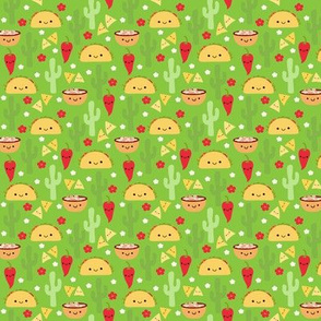 SMALL Happy Taco and Friends - Green (small)