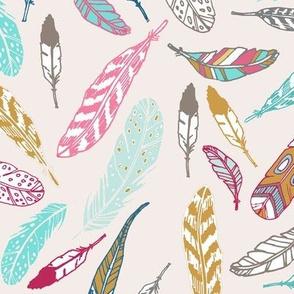 Gypsy Feathers (aqua)