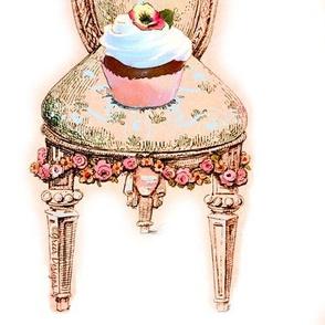 Pink Cupcake Victorian Chair