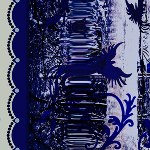 Flow blue Ice