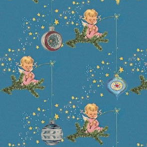 Angels and Ornaments - A retro Chritmas design