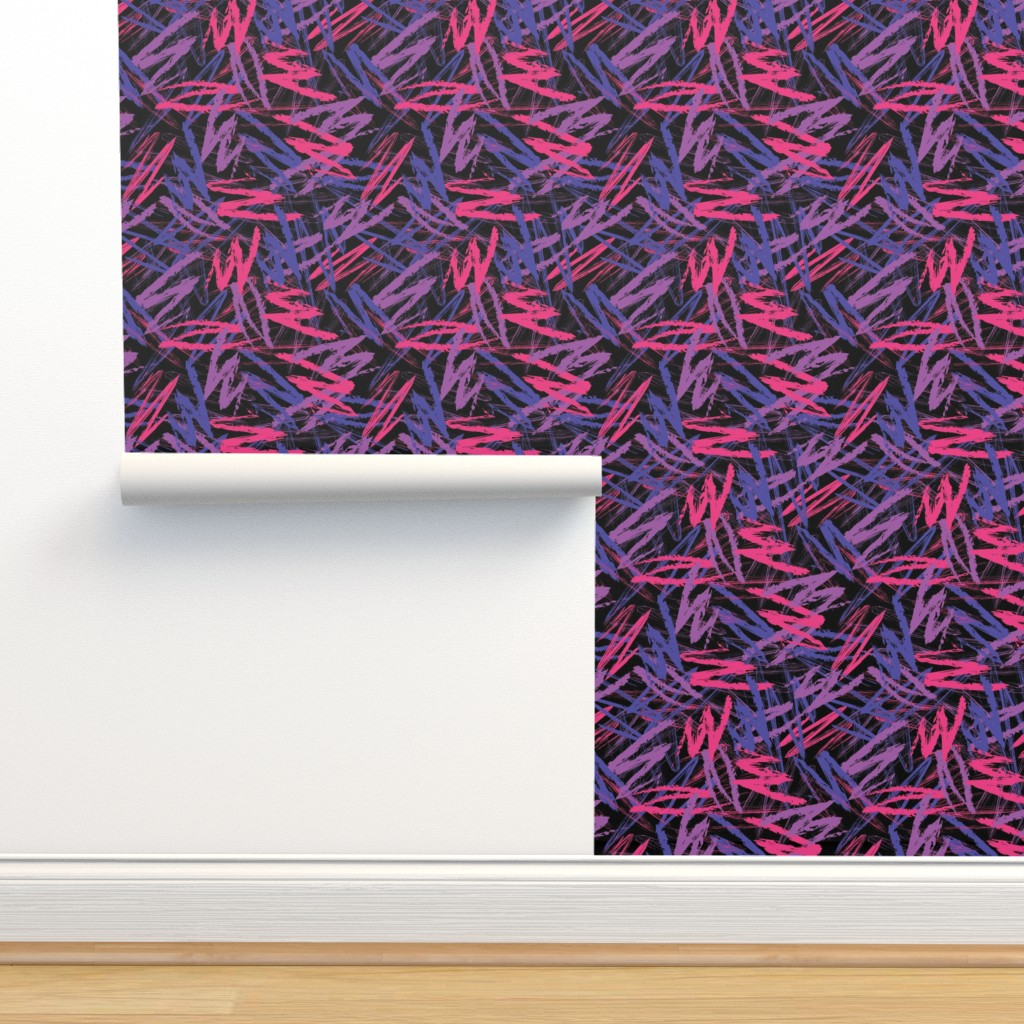 Isobar Durable Wallpaper featuring Retro 80's Scribbles by xoxotique