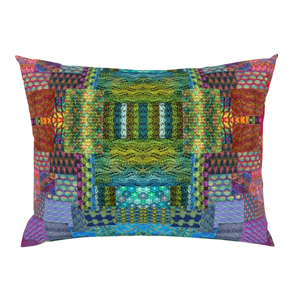 Campine Pillow Sham featuring Knitting__rainbows by snarets