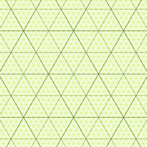 triangle graph : lime green