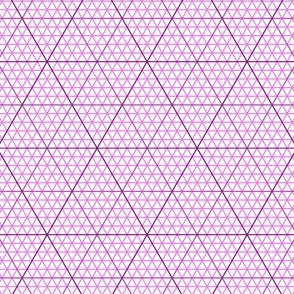triangle graph : magenta purple