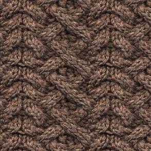 Brown Haka Cable Knit