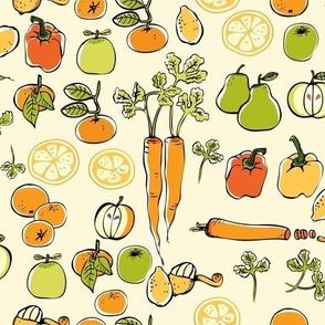 Carrots and Citrus Fruits