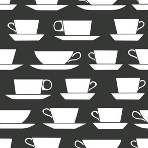 coffee cups - B&W
