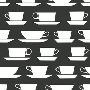 coffee cups - B&W
