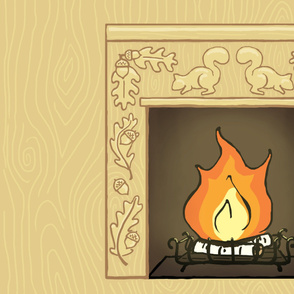 squirrelly fireplace panel