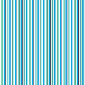 Winter is Here Cyan Stripes